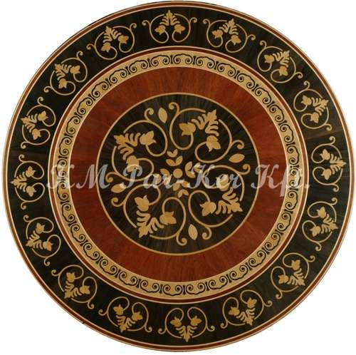 wood inlay floor medallion, Daniel