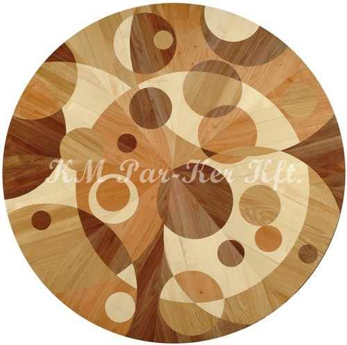 wood inlay floor medallion, Dew 4