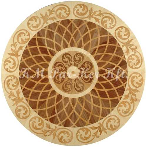 wood inlay floor medallion, Karola