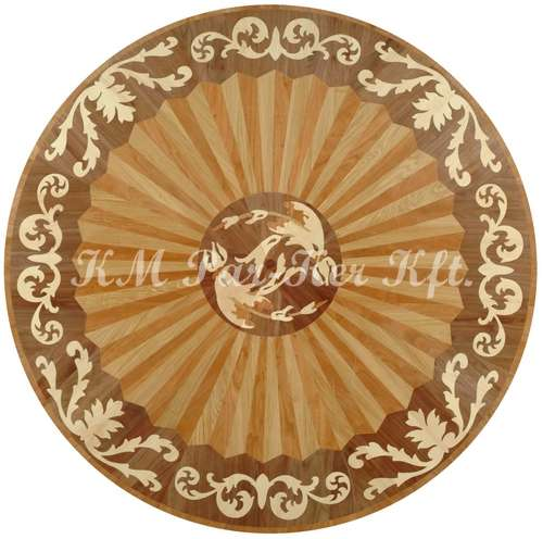 wood inlay floor medallion, Kleopatra 2