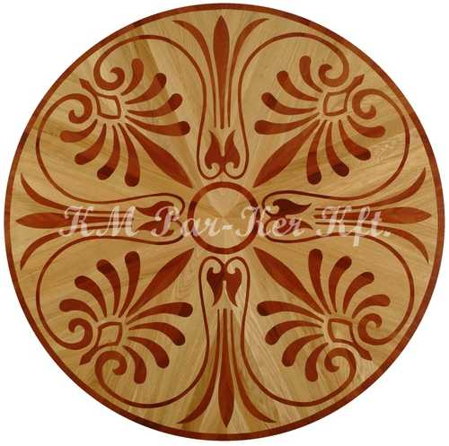wood inlay floor medallion, Lehel 3