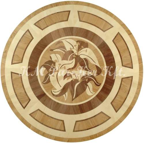wood inlay floor medallion, Lilian