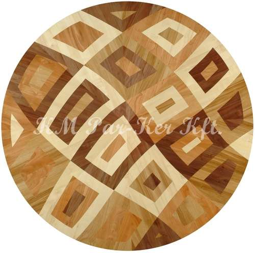 wood inlay floor medallion, Noe