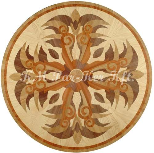 wood inlay floor medallion, Phoenix 2