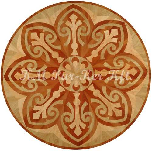 wood inlay floor medallion, Piandik Nandor 2