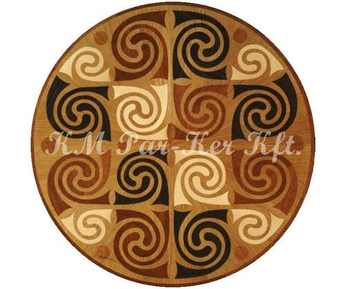 wood inlay floor medallion, Scythian