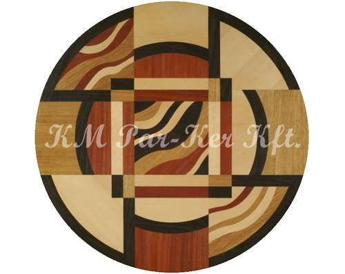 wood inlay floor medallion, Solaris