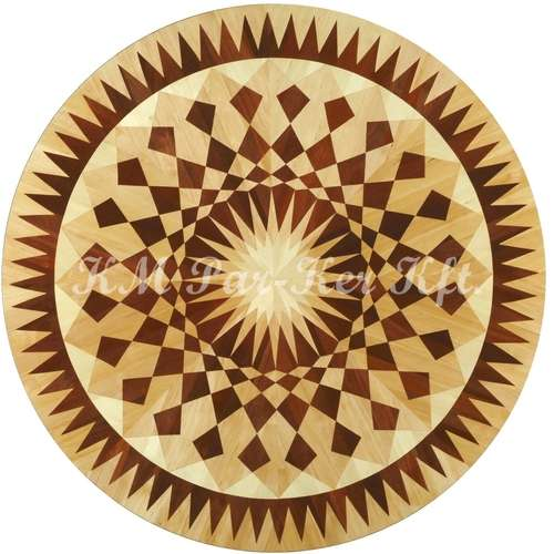 wood inlay floor medallion, Szilvia 2