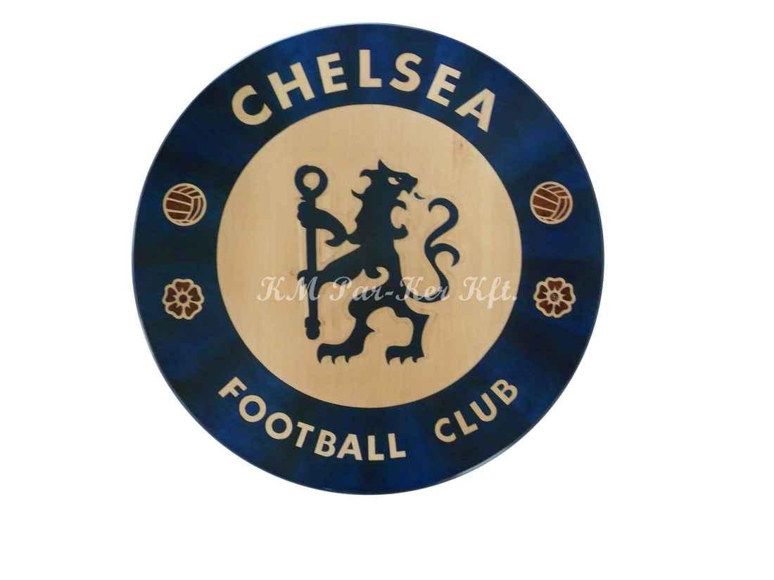 wood inlay table, Football Club Chelsea