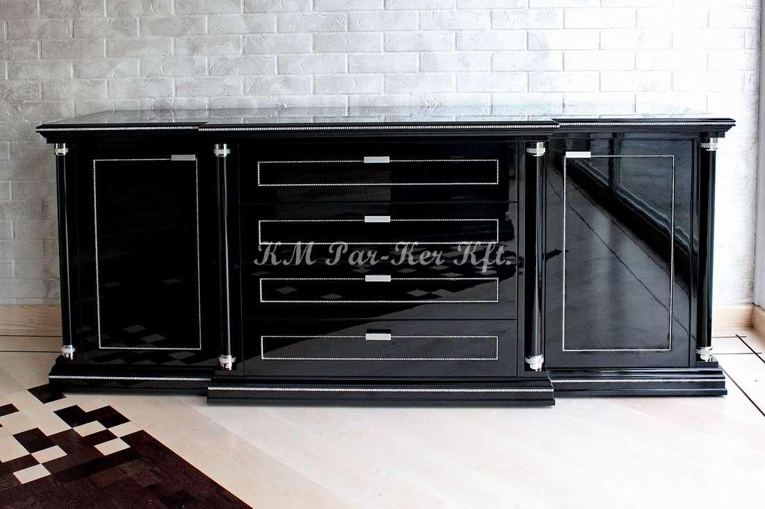 egyedi bútor 08, fekete, lakkozott komód