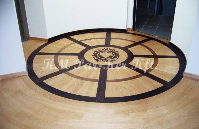 egyedi padló 10, intarzia