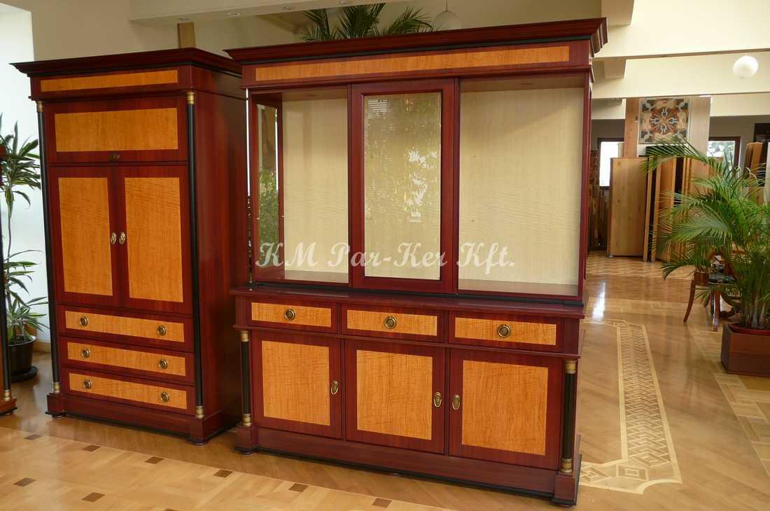 fabrication de meuble sur mesure 01, secrétaire, vitrine