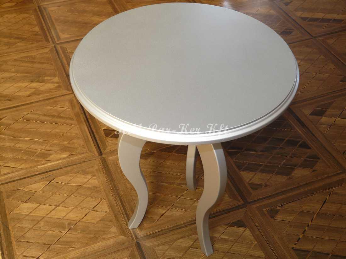 fabrication de meuble sur mesure 25, table basse en argent