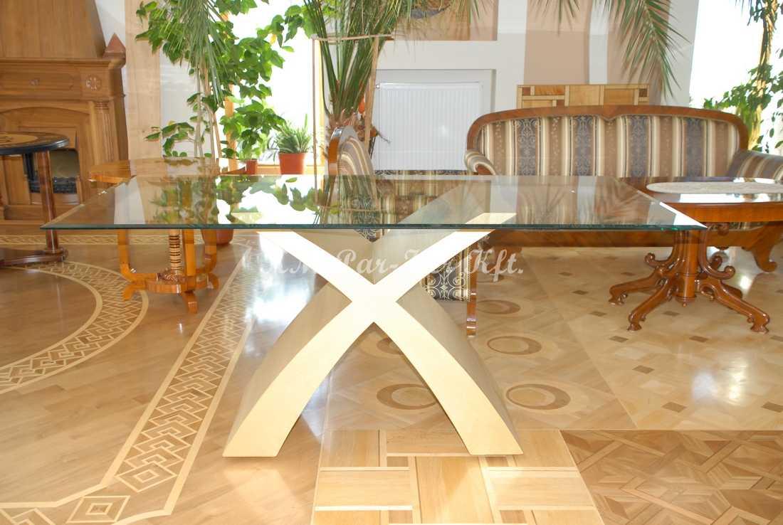 fabrication de meuble sur mesure 26, table salle à manger en or