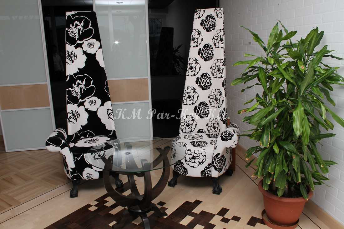 fabrication de meuble sur mesure 79, fauteuil avec dossier haut