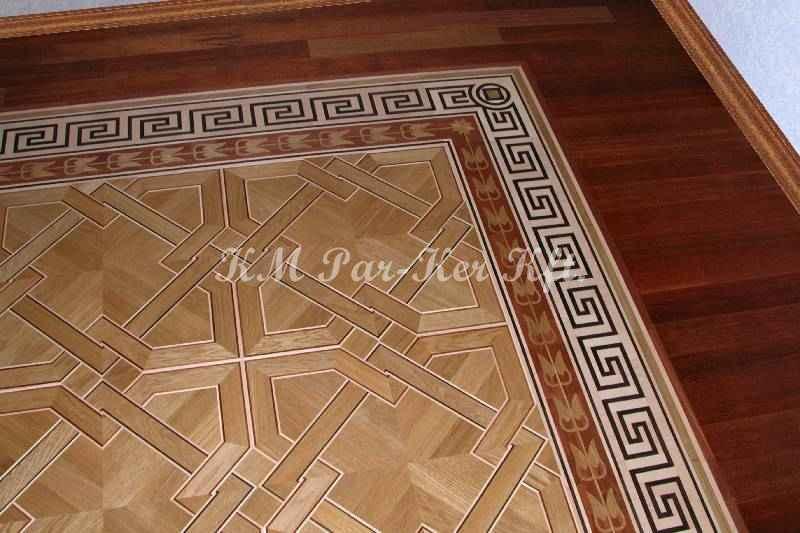 bordure de parquet en marqueterie 12, motif grecque