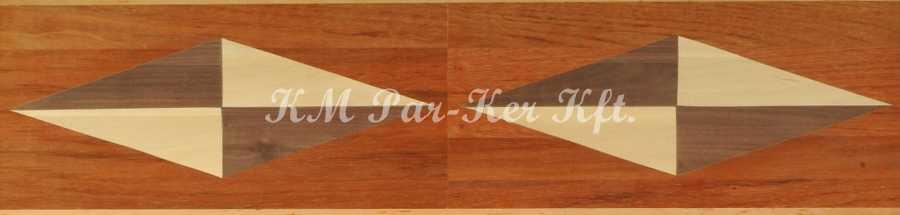 bordure de parquet en marqueterie, Directions 3
