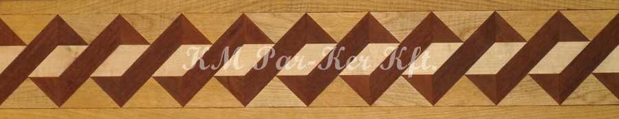 bordure de parquet en marqueterie, Osier K