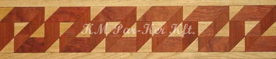 bordure de parquet en marqueterie, Z