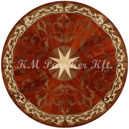 médaillon, rosace de parquet en marqueterie, Arpad 2