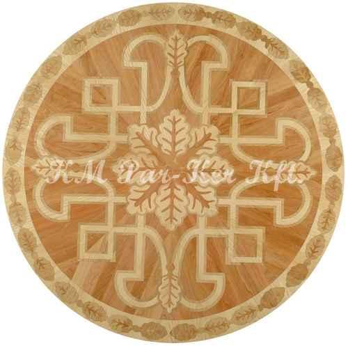 médaillon, rosace de parquet en marqueterie, Hun 1