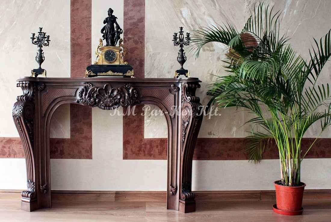 meuble sculpté 13, cheminée en bois