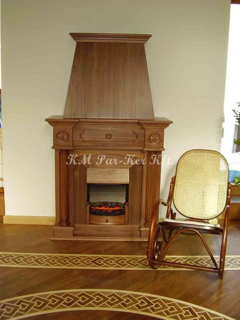 meuble sur mesure 23, cheminée en bois