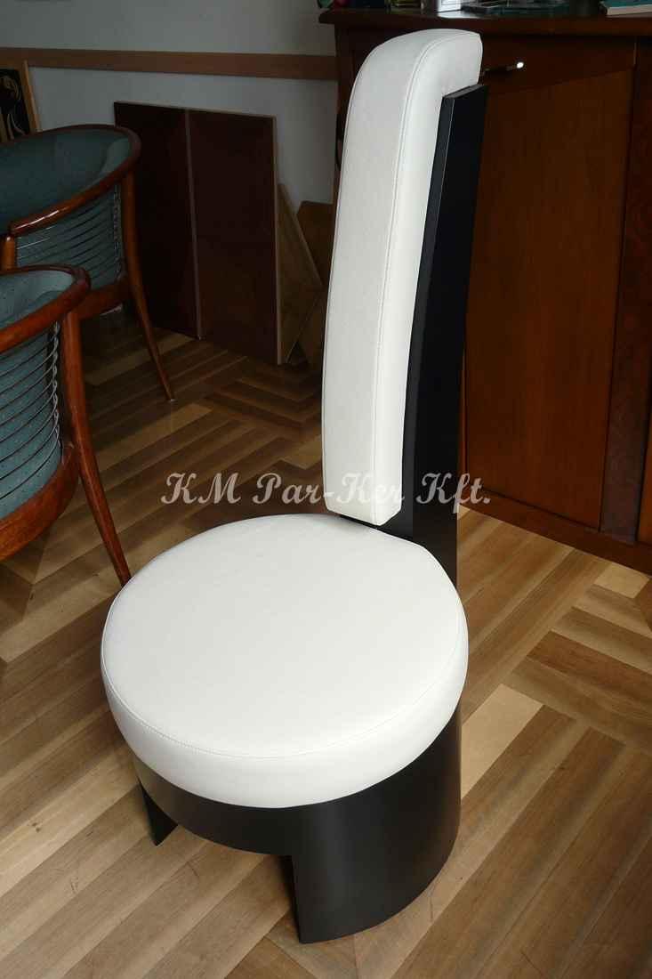 meuble sur mesure 27, chaise moderne en cuir noire blanc