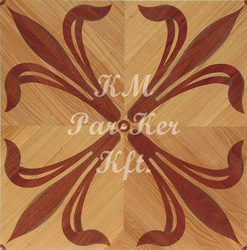 parquet marqueterie, Fleur de lys 1