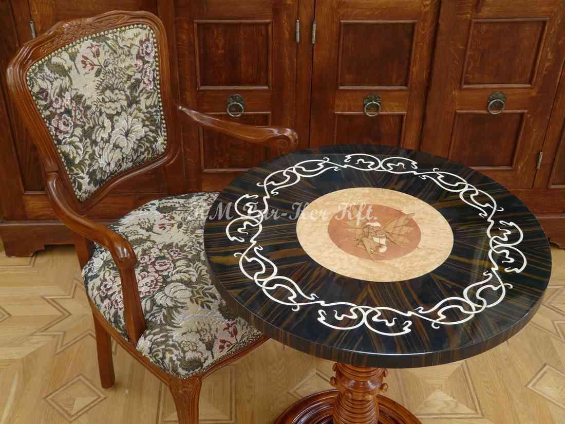 table marqueterie, Art nouveau