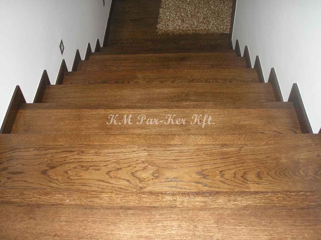 fa lépcső 02, olajos tölgy