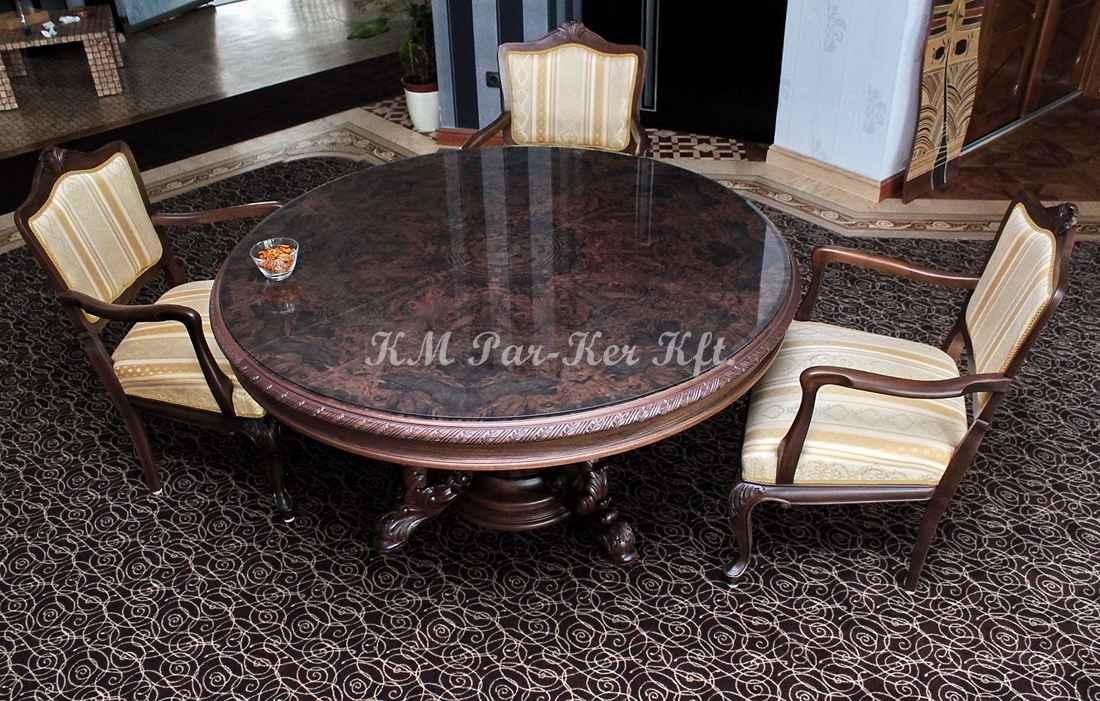 faragott bútor 04, étkező asztal, szék