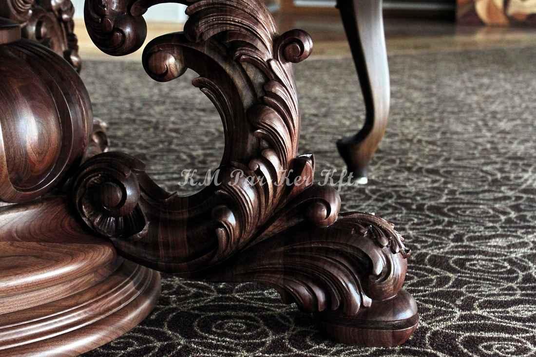 faragott bútor 06, étkezőasztal láb