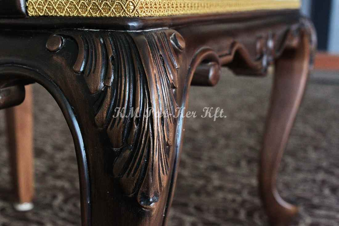 faragott bútor 09, szék láb részlet