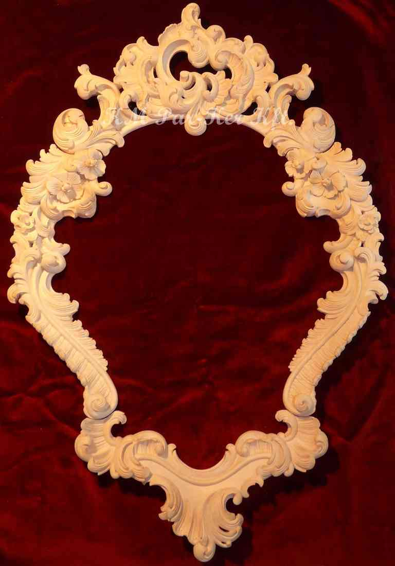 faragott bútor 41, barokk tükörkeret