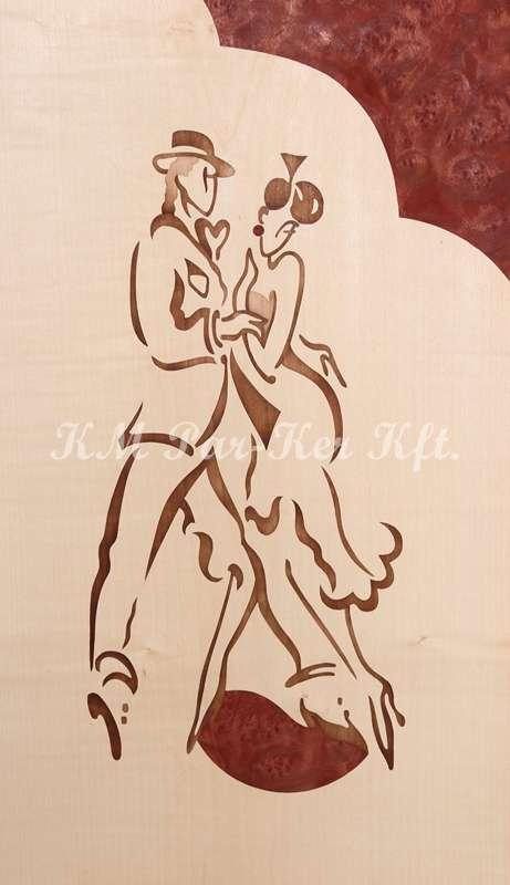 intarzia kép -M.L. Tánc 1, Paso doble