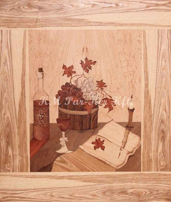 intarzia kép -Őszi hangulat