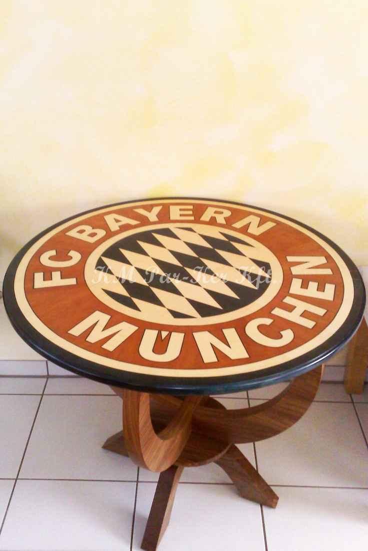 intarziás asztal, Focis, Bayern München