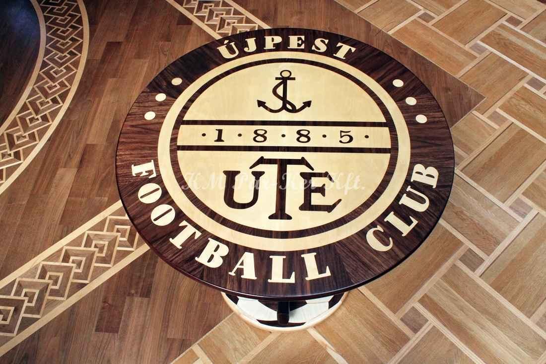 intarziás asztal, Focis, UTE Újpest Football Club