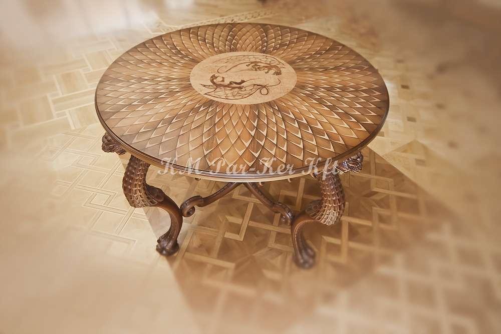 intarziás asztal, Nagy Sárkány