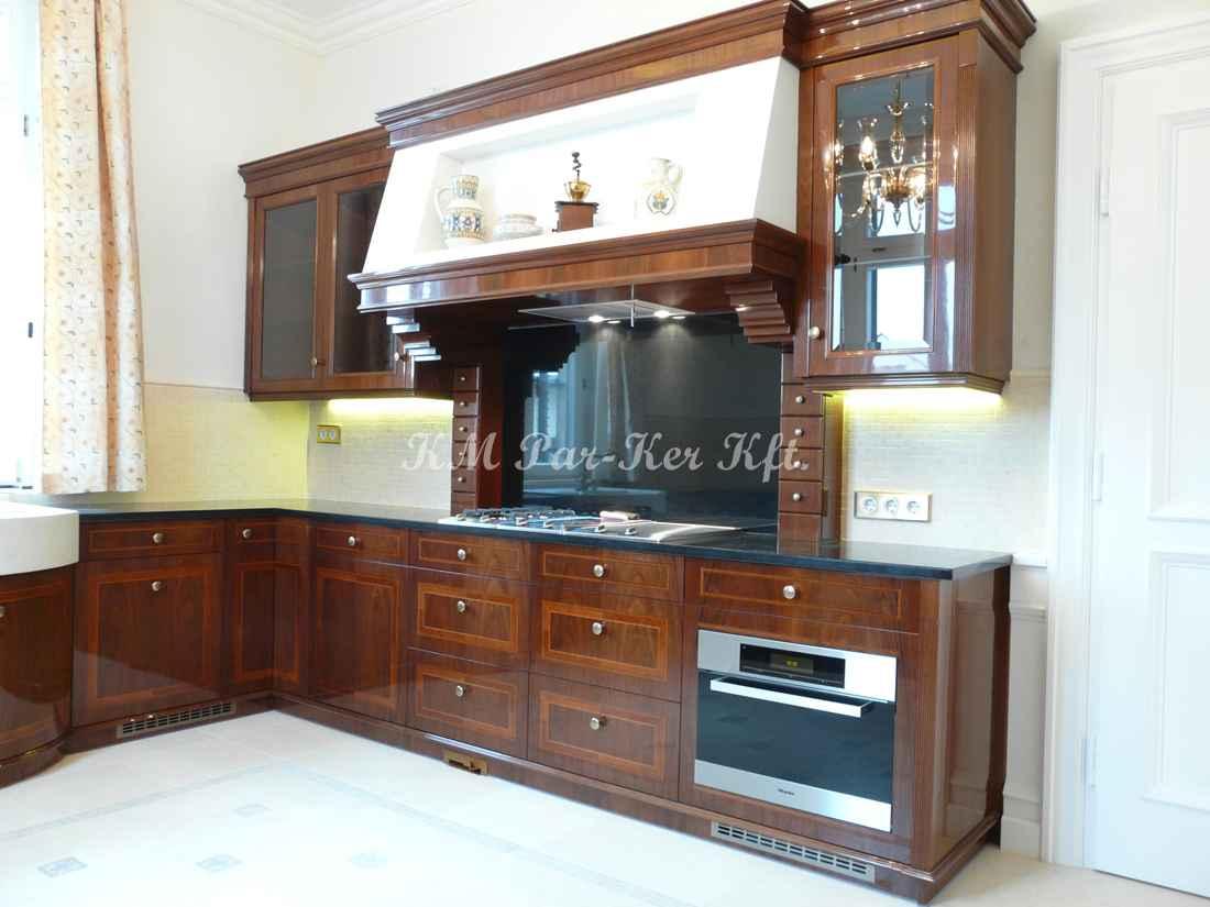 intarziás bútor 58, konyhabútor, magasfényű