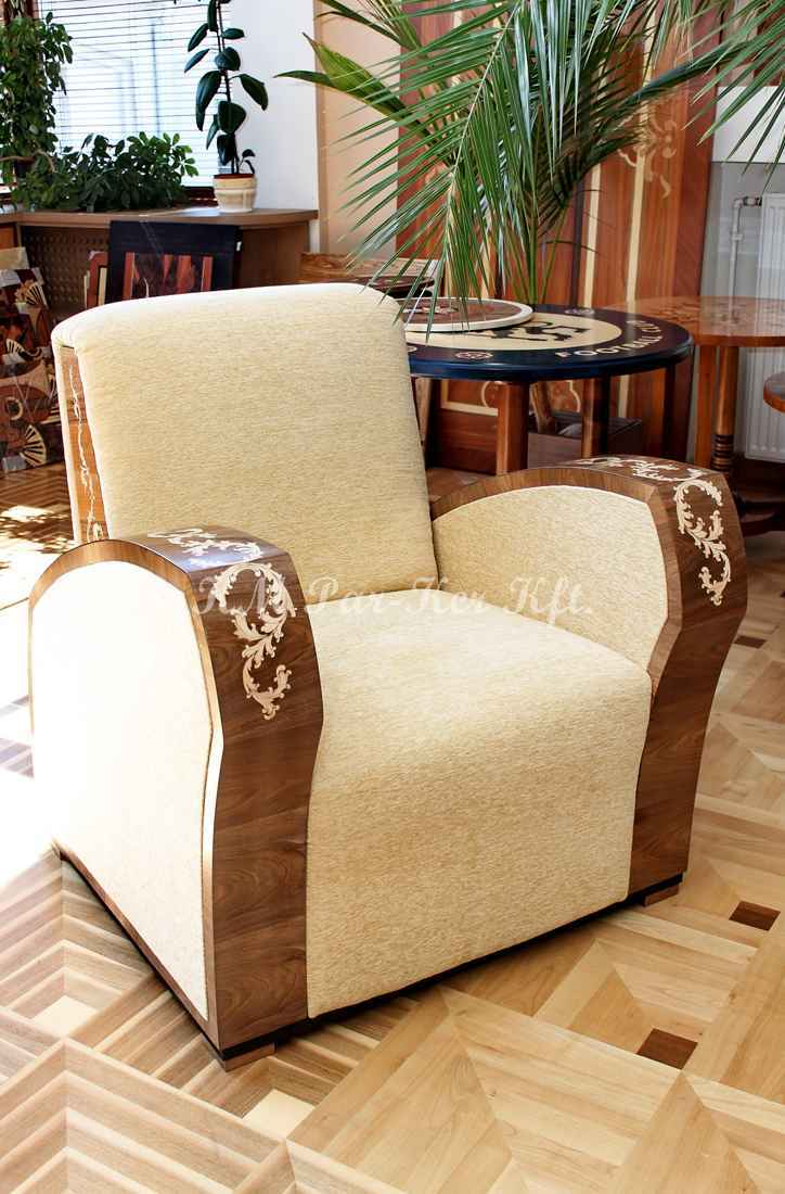 intarziás bútorok 04, fotel