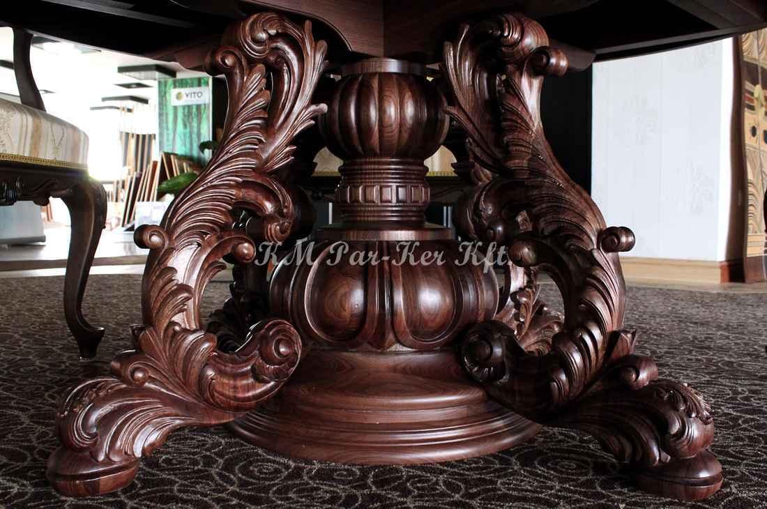 konyhabútor 24, faragott dió asztalláb