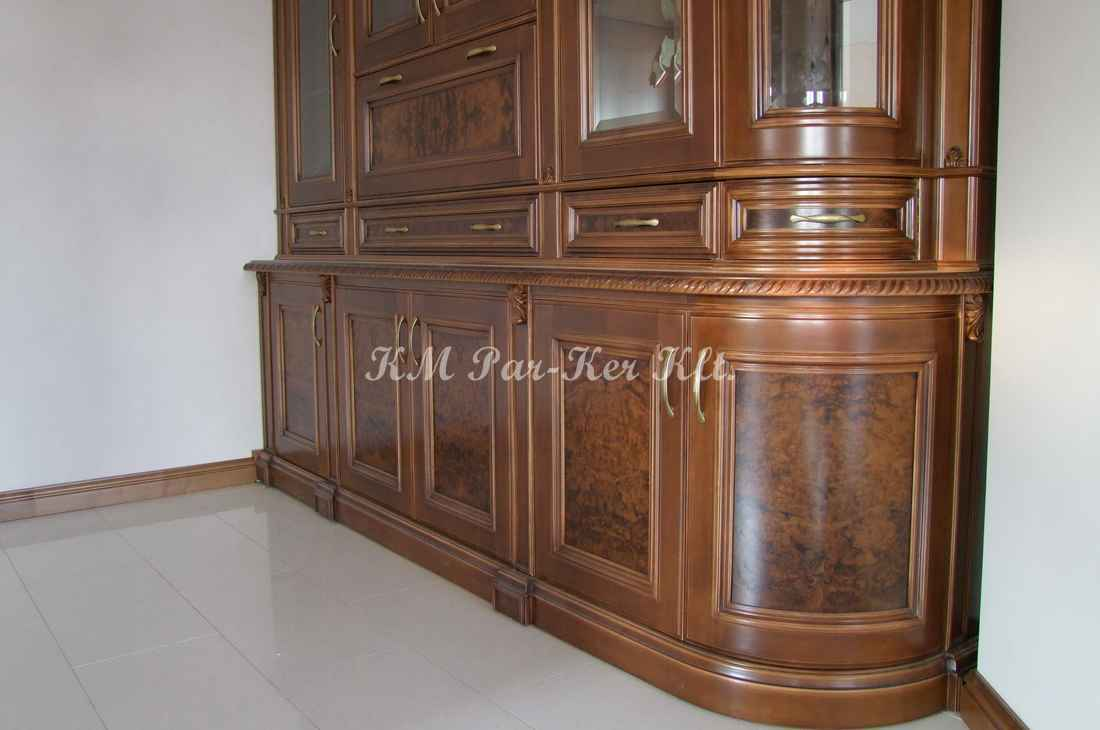 konyhabútor 26, gyökérbetétes tálaló szekrény