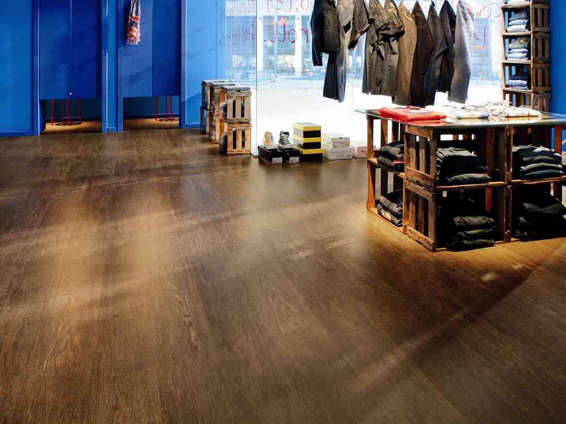 laminált padló 12, nagy kopásállóságú üzletbe