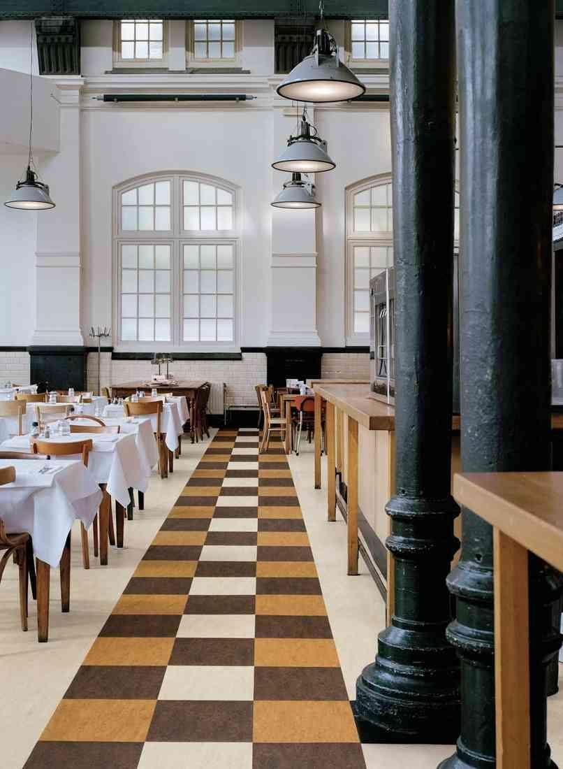 linóleum padló 17, nagy kopásállóság, étterem