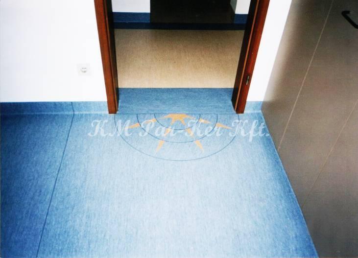 PVC padló 11, intarziás irodába