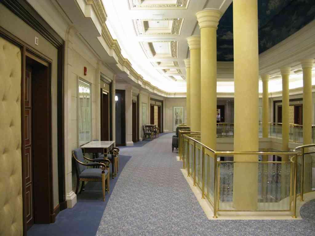 szőnyegpadló gyapjú 14, szállodai folyosó