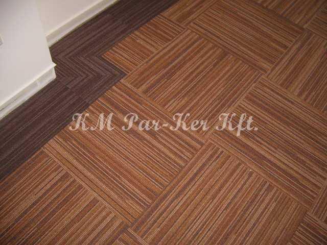 szőnyegpadló modul 12, bordűrrel elforgatva