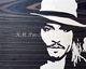 Intarsien Bild -Johnny Depp